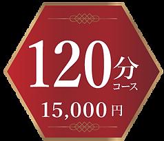 料金120分コース 15000円