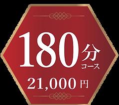 料金180分コース 21000円