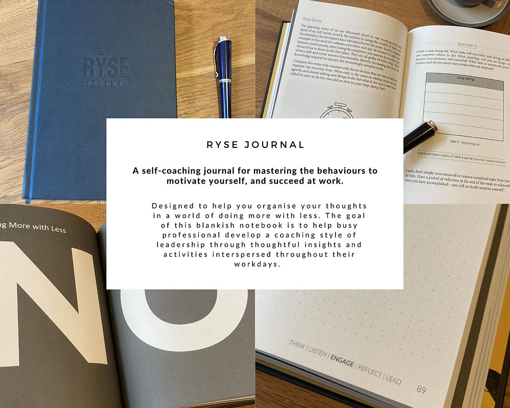 A self-coaching journal for masting the behaviours to motivate yourself, and succeed at work.