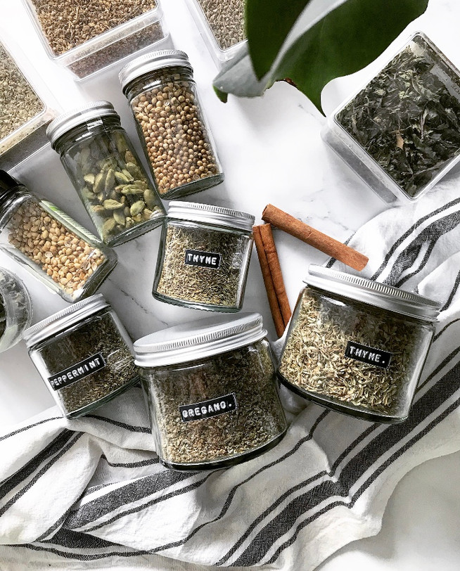 Organising your herb cabinet in 5 simple steps.