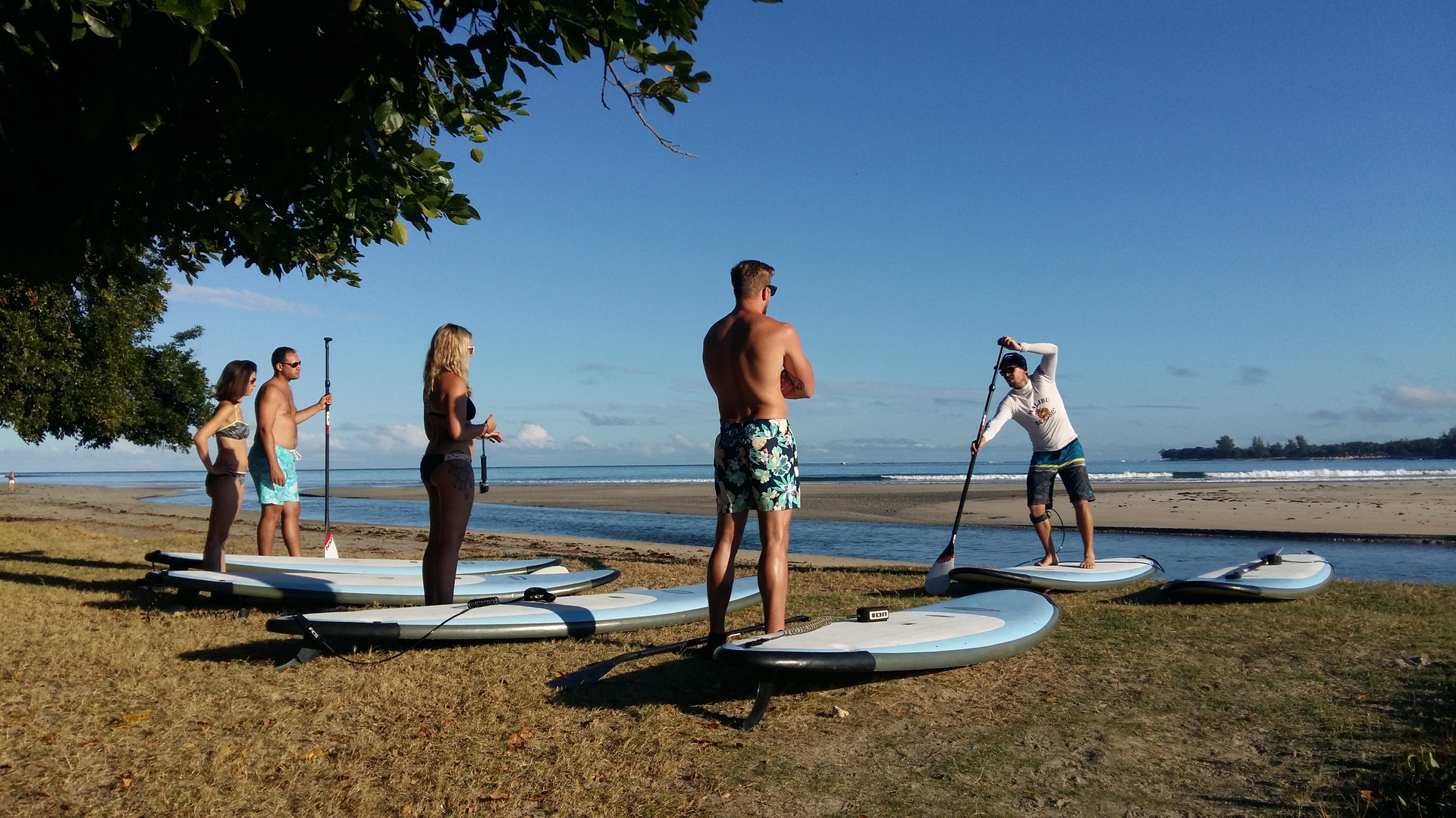 Real Mauritius stand up paddle and kayak excursion mauritius Tamarin River