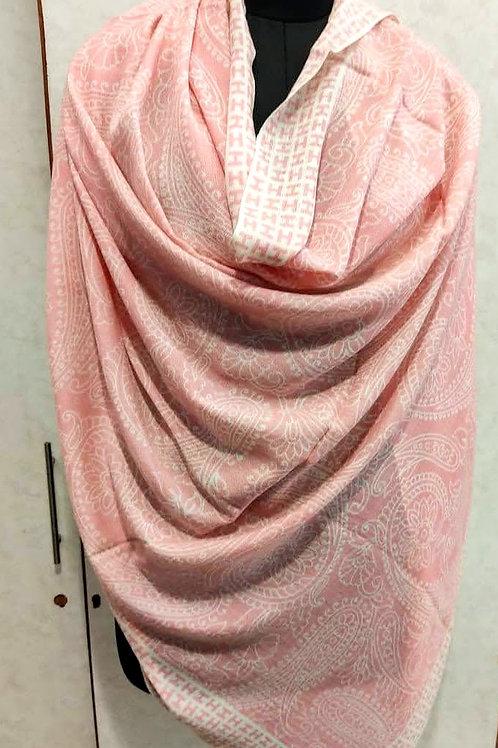 Printed Meditation Shawl - Pink Paisley