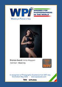 Bronze Award Maternity WPI Maggiani