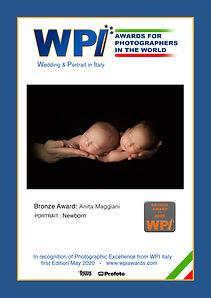 Bronze Award Newborn WPI Maggiani