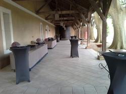 Terrasse couverte salle de réception