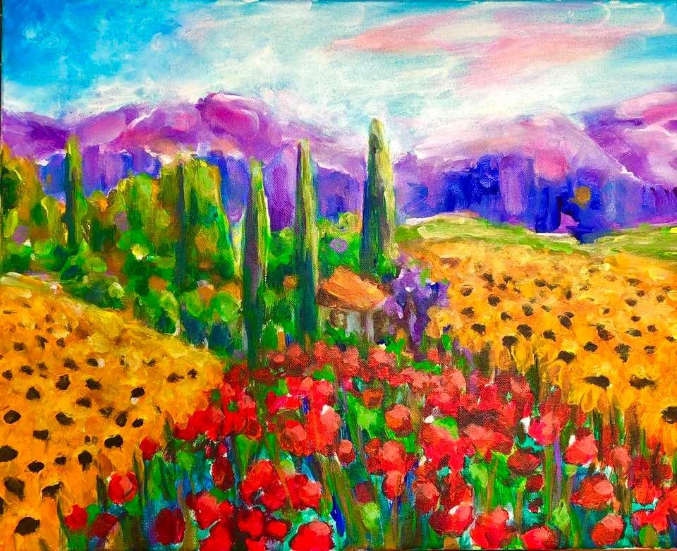 Sunflowers & Poppies