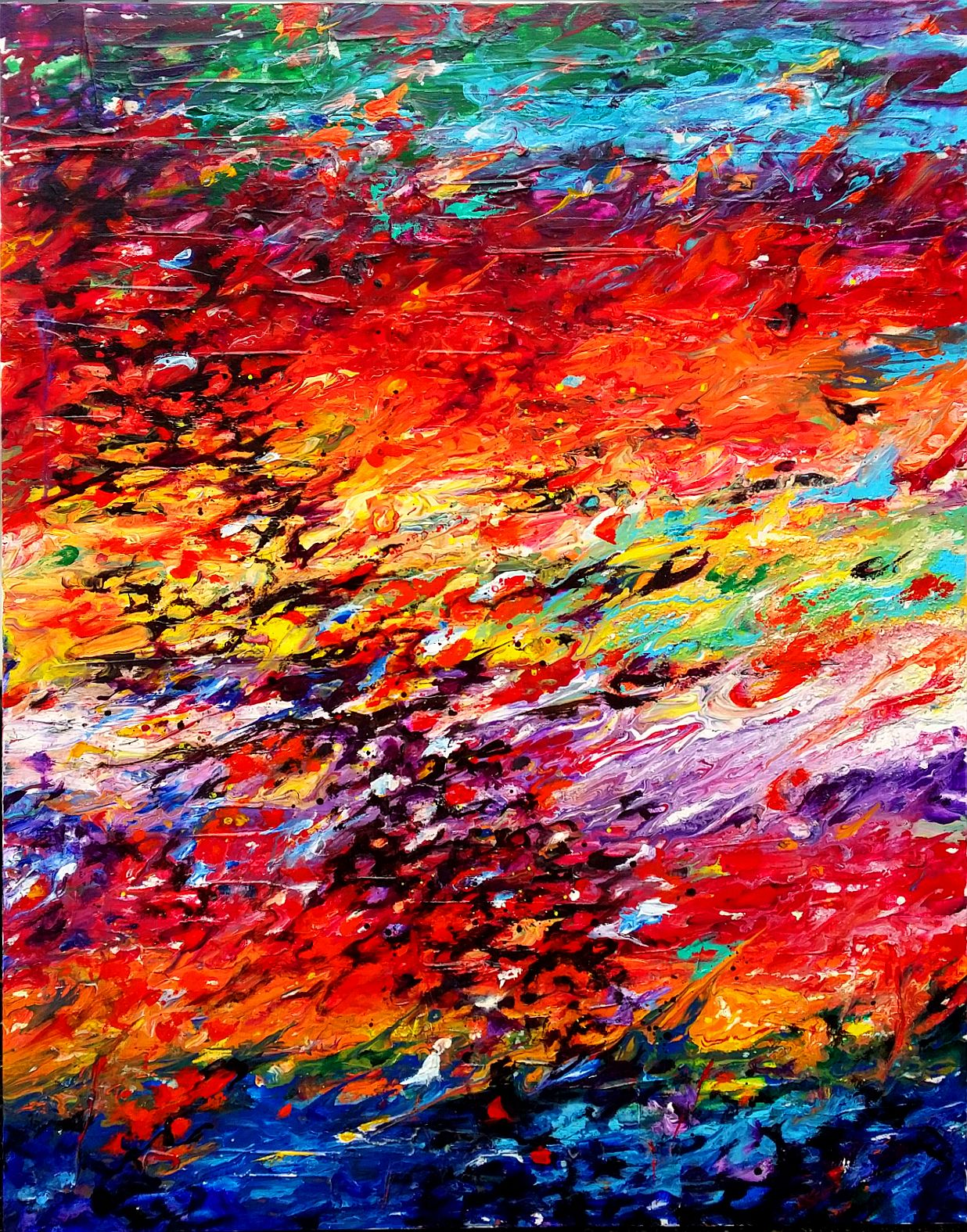 Composition #6. Series Abstract Sunsets. 48x36