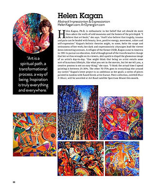 "Helen Kagan - featured ""Collectible Artist"" (Curated ""Deaaler's Dozen) by Key Biscayne Magazine. Dec 2016"