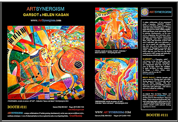 ArtSynergism | Unique Fine & Decorative Art by Garsot & Helen Kagan @Art&Beyond Mag. Dec. 2016