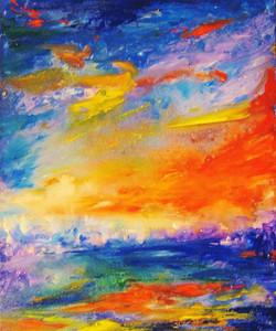 8.Colorscape #6. Lets Catch That Orange Cloud. 20x16