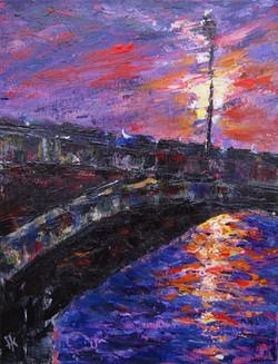 4. Sunset Bridge #3. 14x11