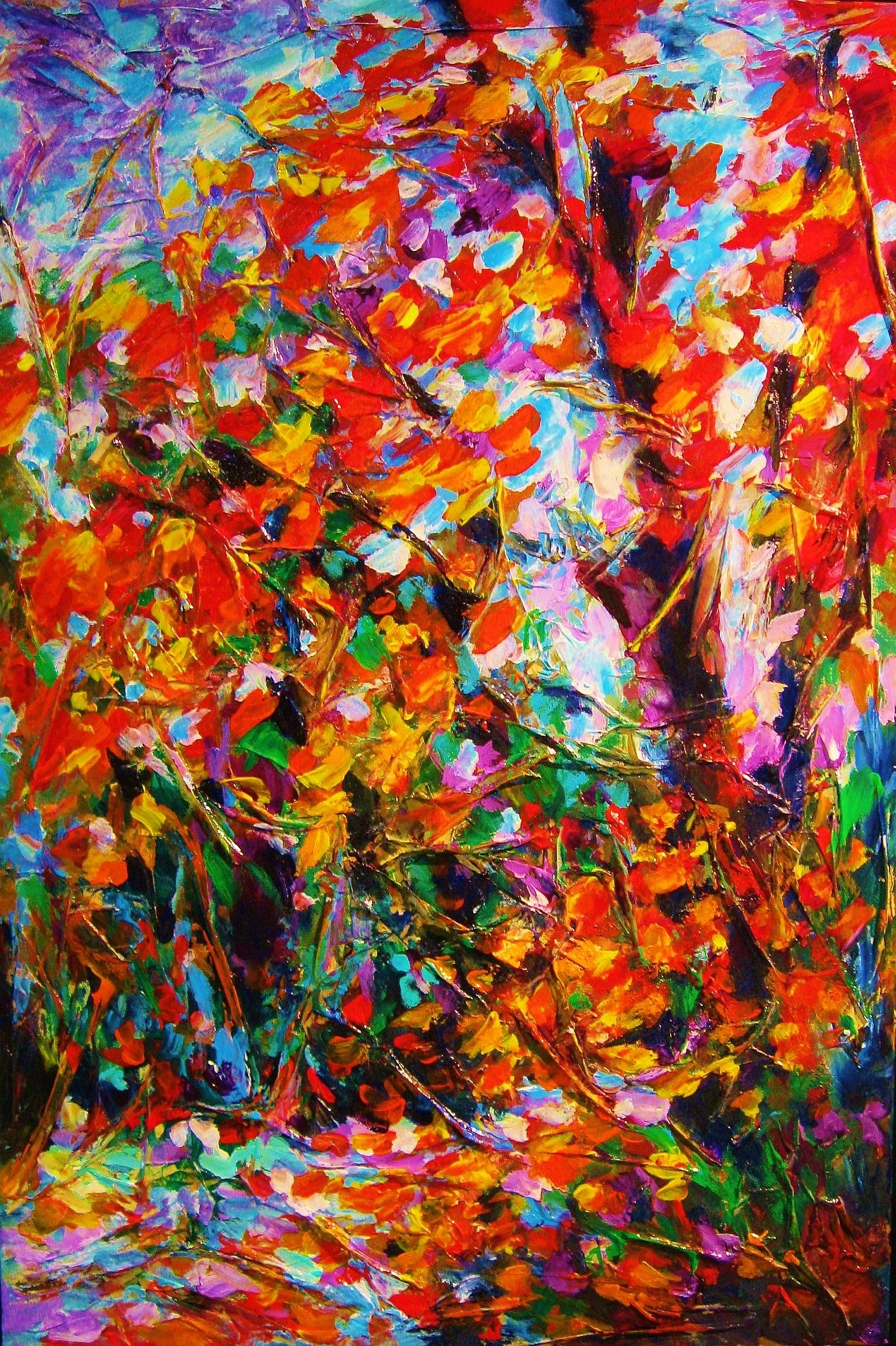 "Autumn Leaves 36""x24"""