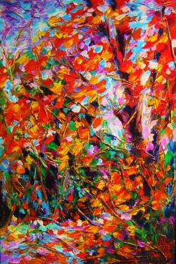 "Autumn Leaves 36""x24"""