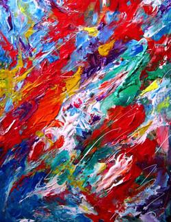 Colorscape #19. I am Leaving. 16x12