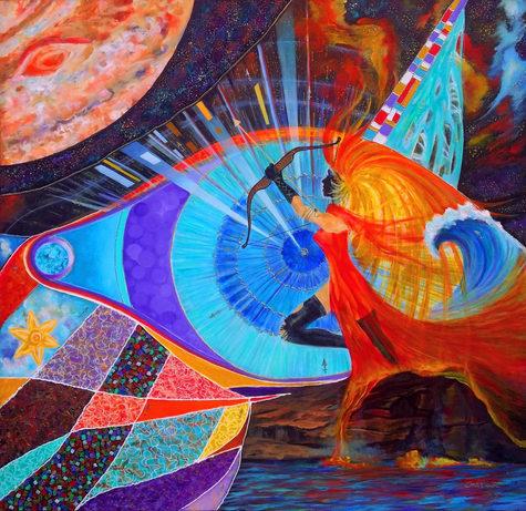 Sagittarius. Collection Eyes of the Zodiac