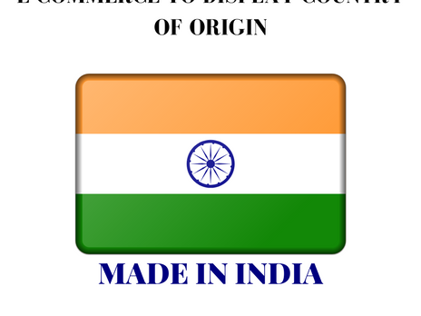 E-COMMERCE TO DISPLAY COUNTRY OF ORIGIN