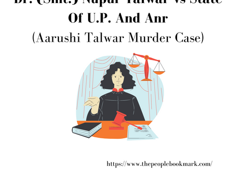Dr. (Smt.) Nupur Talwar vs State Of U.P. And Anr (Aarushi Talwar Murder Case)