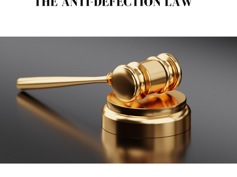 THE ANTI-DEFECTION LAW