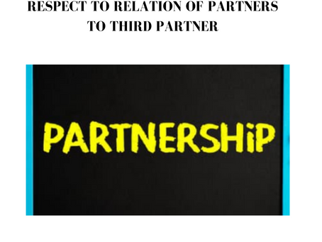 THE INDIAN PARTNERSHIP ACT WITH RESPECT TO RELATION OF PARTNERS TO THIRD PARTNER
