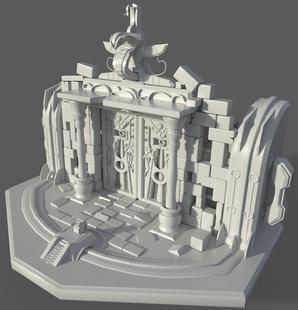 Ornate Door Model / Front-View