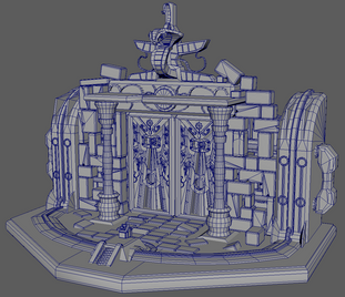 Ornate Door Wireframe