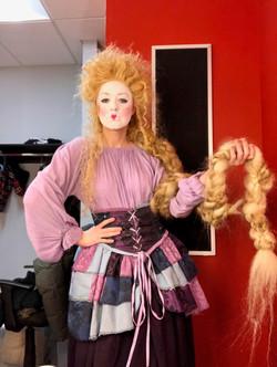 Backstage at Commedia Rapunzel