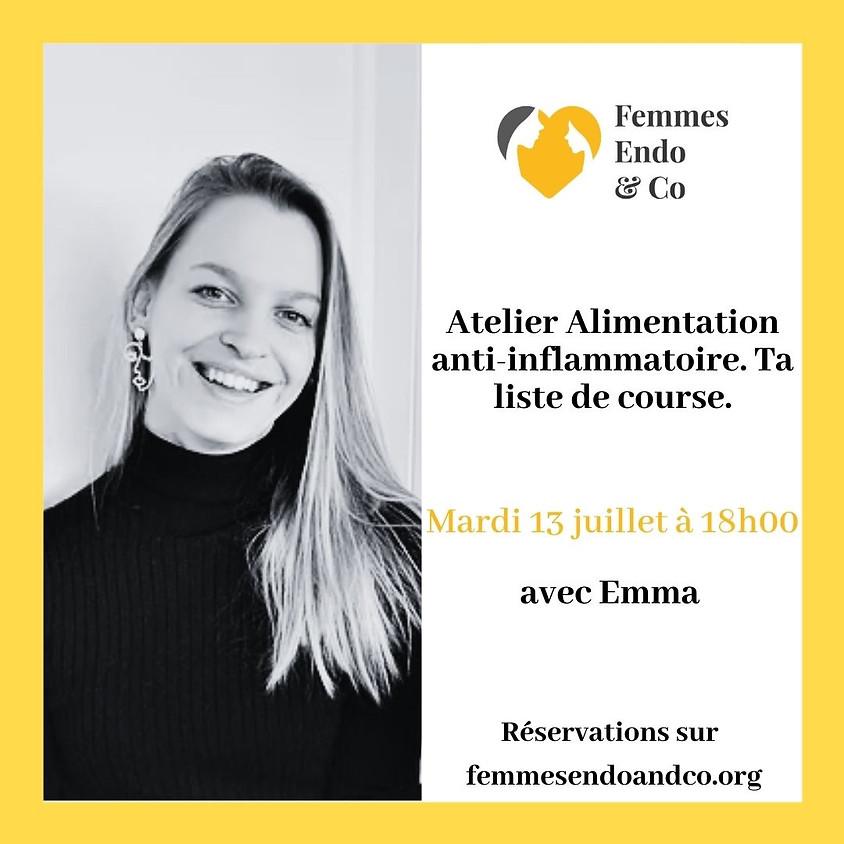 Atelier Alimentation anti-inflammatoire, ta liste de course avec Emma