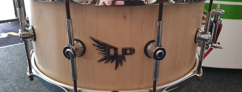 Hendrix Drums 14x6.5 Players Stave Series Maple Satin Natural