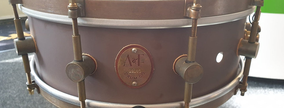 A&F Drum Co. 14x5 Raw Brass