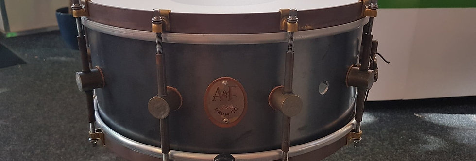 A&F Drum Co. 14x6 Raw Steel (10 lugs)