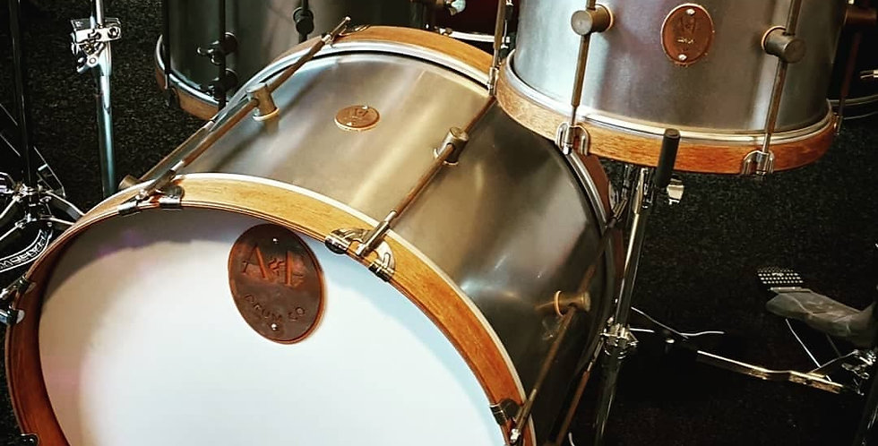 A&F Drum Co. Raw Steel Shellset