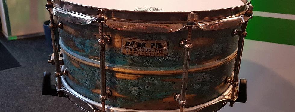 Pork Pie 14x6.5 Patina Brass w/ Aged Hardware