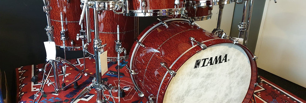 Tama Star Mahogany Limited Edition in Quilted Natural Waterfall Sapele