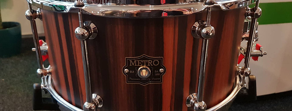 Metro Drum Co. 14x7 Jarrah Ply in Satin Royal Ebony