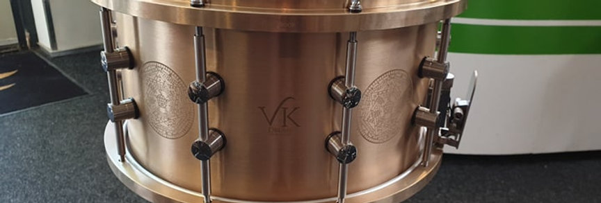VK Drums 7empest 14x8 Cast Bronze Danny Carey Signature #020