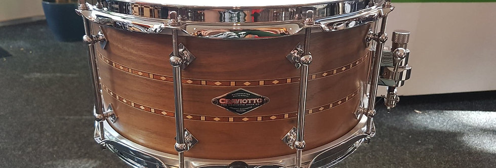Craviotto 14x6.5 Walnut, Double inlay