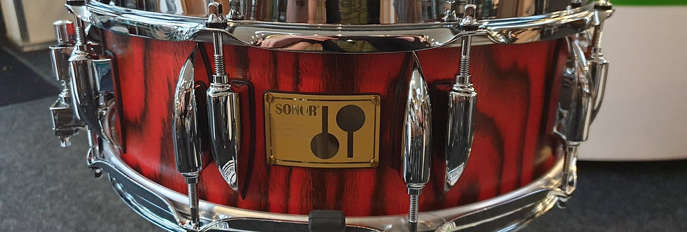 Sonor SQ2 14x5 Heavy Birch in Fiery Red