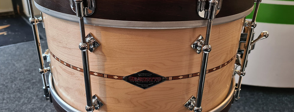Craviotto 14x7 Customshop Maple with Walnut stained woodhoops