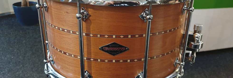Craviotto 14x8 Mahogany w/ Double walnut inlay