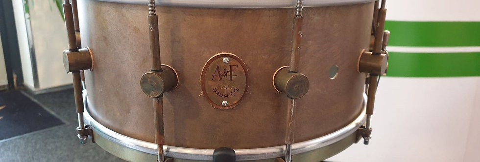 A&F Drum Co. 14x6.5 Raw Brass