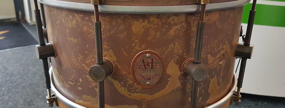 A&F Drum Co. 14x7 Raw Brass