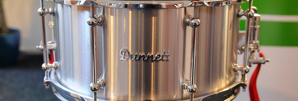 Dunnett Classic Drums 14x7 Stainless Steel Raw Finish