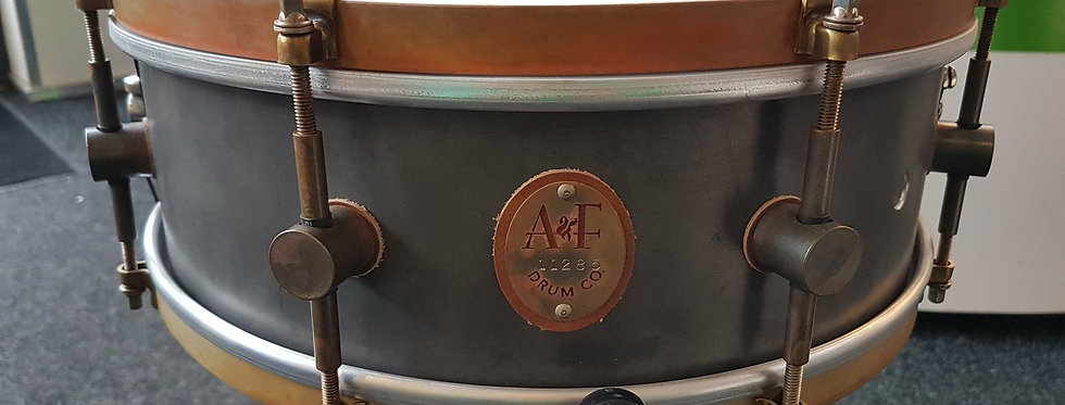 A&F Drum Co. 14x5 Raw Steel
