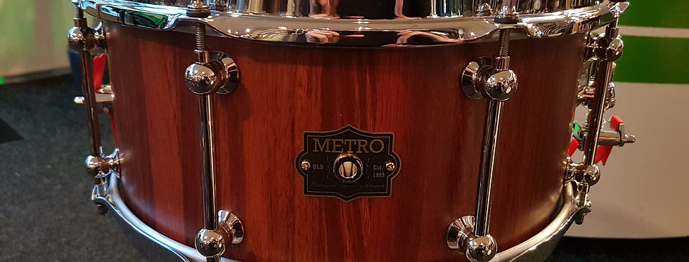 Metro Drum Co. 14x6.5 Jarrah Block snare in Satin