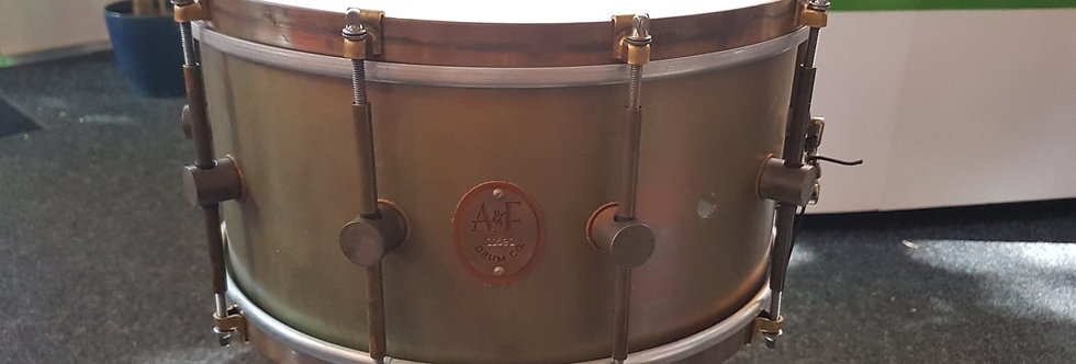A&F Drum Co. 14x7 Raw Brass