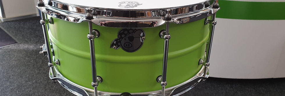 Pork Pie 14x6.5 Seamless Aluminum Green