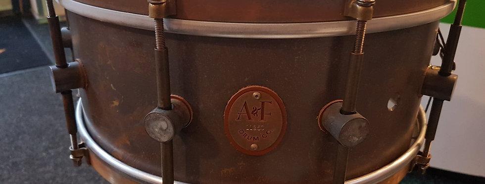 A&F Drum Co. 14x6 Raw Brass