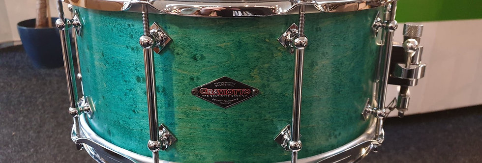 Craviotto 14x6.5 Birdseye Maple Caribbean Blue