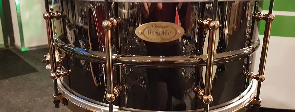 World Max Vintage Classic 14x6.5 Black Nickel with Aztec Gold Hardware