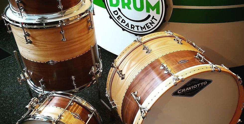 Craviotto Drum Co. Ash/Walnut stacked shellset